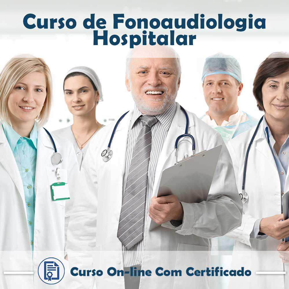 Curso online em videoaula sobre Fonoaudiologia Hospitalar com Certificado