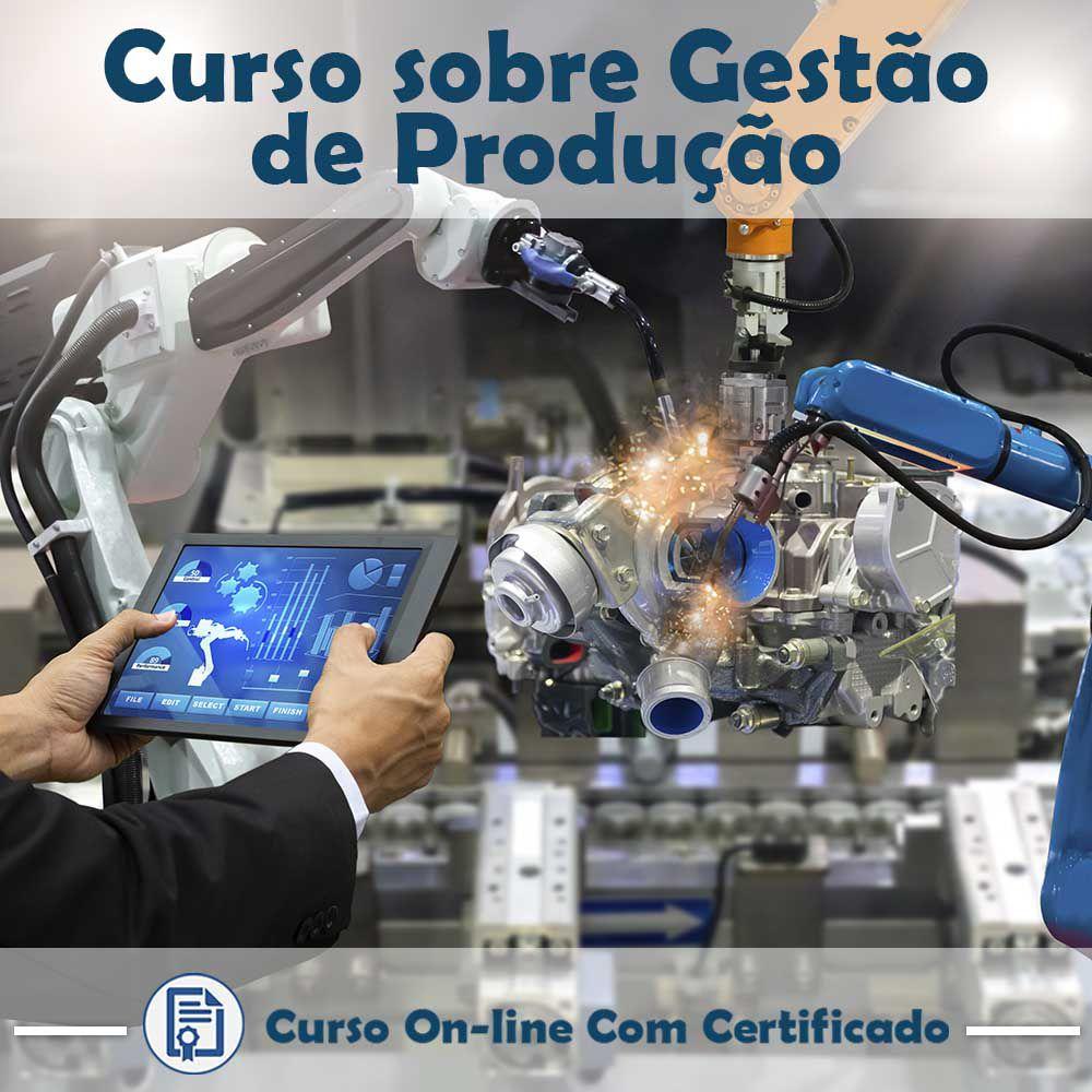 Curso online em videoaula sobre Gestão de Produção com Certificado