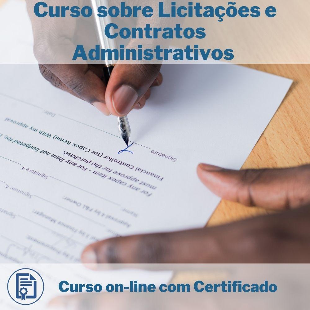 Curso Online em videoaula sobre Licitações e Contratos Administrativos com Certificado   - Aprova Cursos