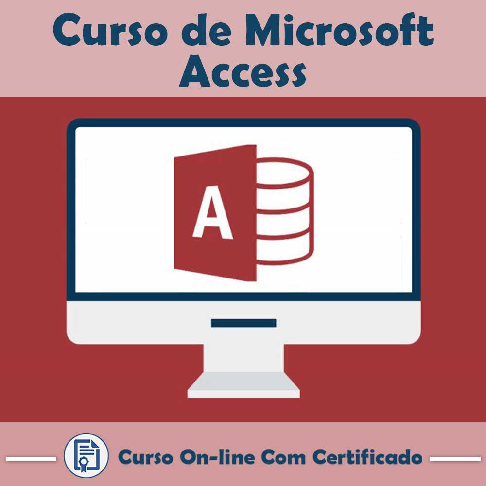 Curso online em videoaula sobre Microsoft Access com Certificado