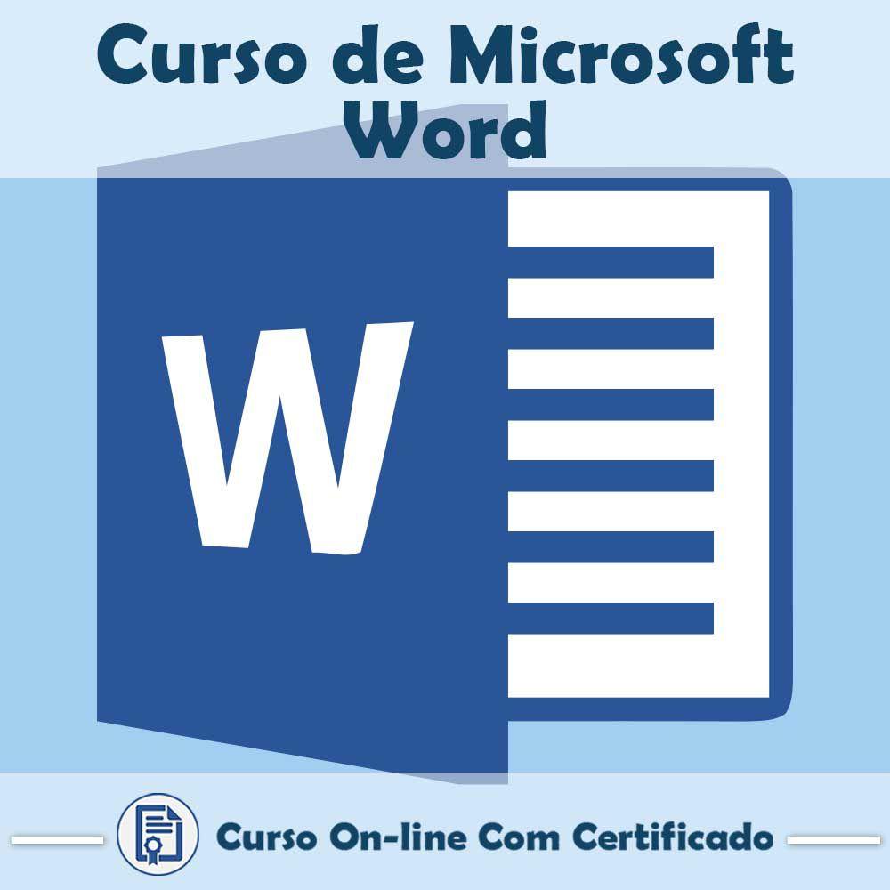 Curso online em videoaula sobre Microsoft Word com Certificado