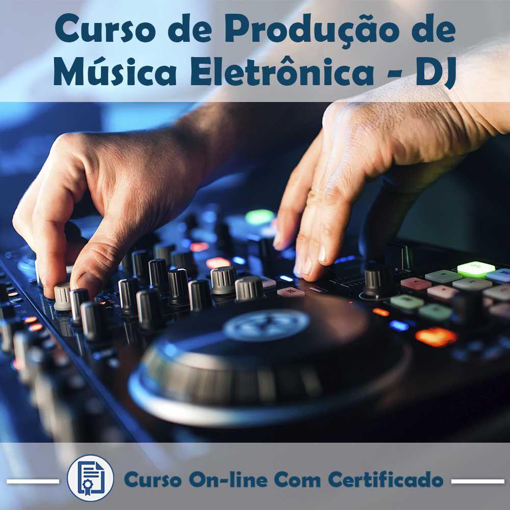 Curso online em videoaula sobre Produção de Música Eletrônica - DJ com Certificado  - Aprova Cursos