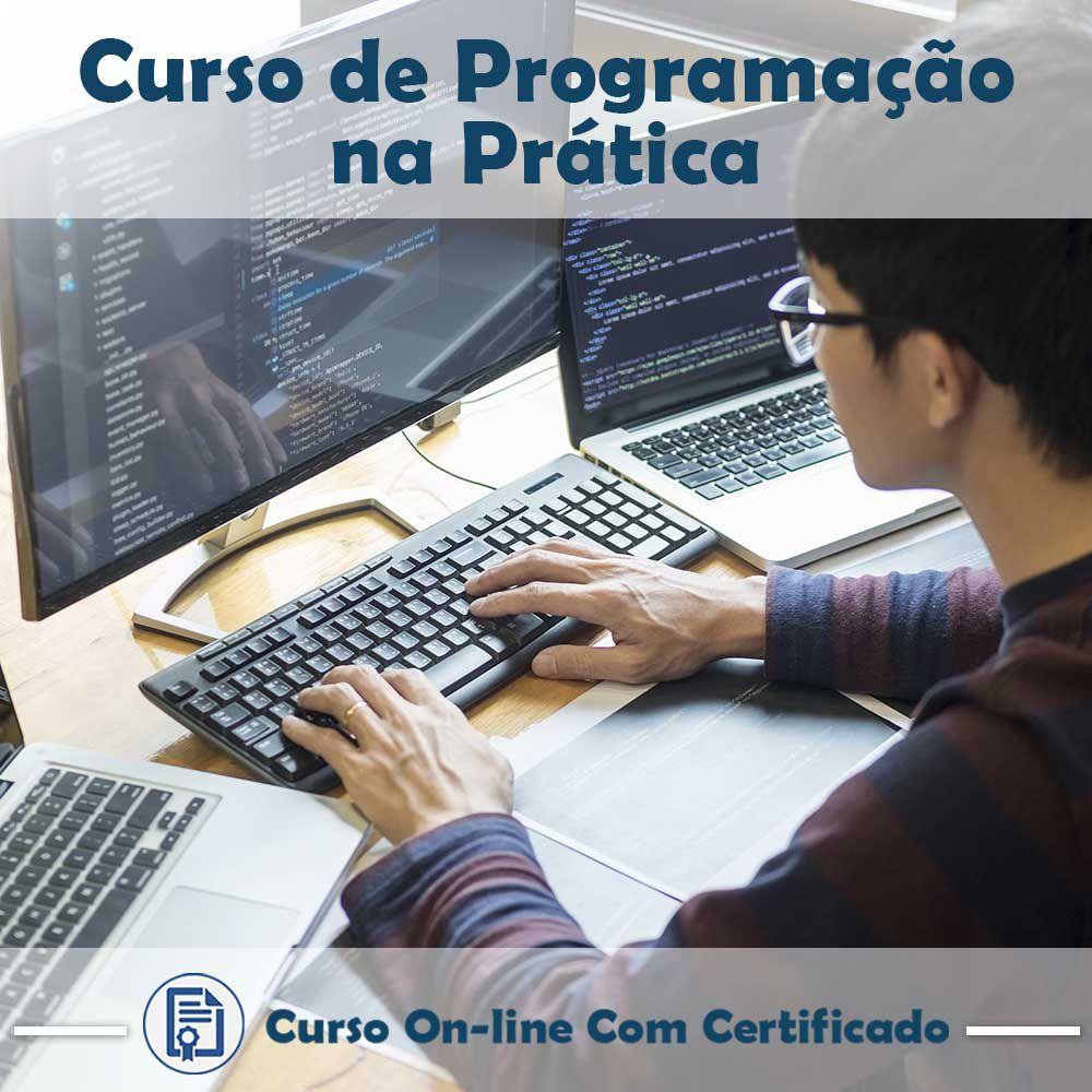 Curso online em  videoaula sobre Programação na Prática com Certificado