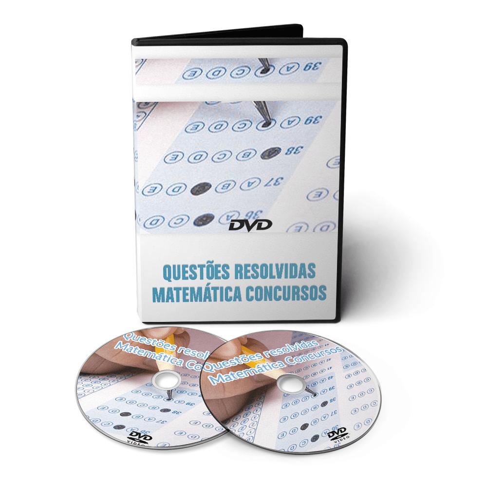 Curso / Questões Resolvidas de Matemática para Concursos em DVD Videoaula  - Aprova Cursos