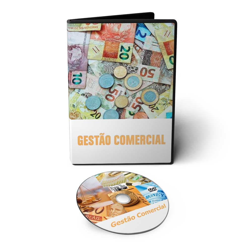 Curso sobre Gestão Comercial em DVD Videoaula