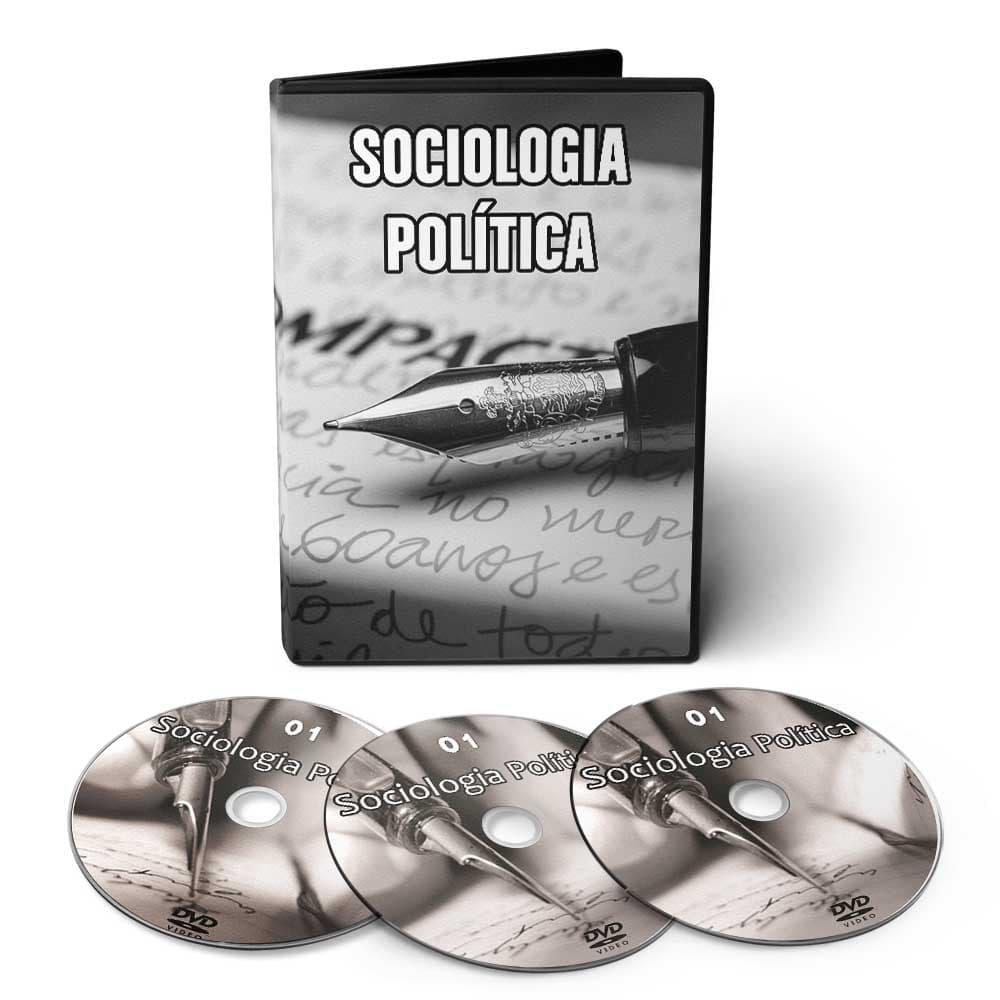 Curso sobre Sociologia Política em 03 DVDs Videoaula  - Aprova Cursos