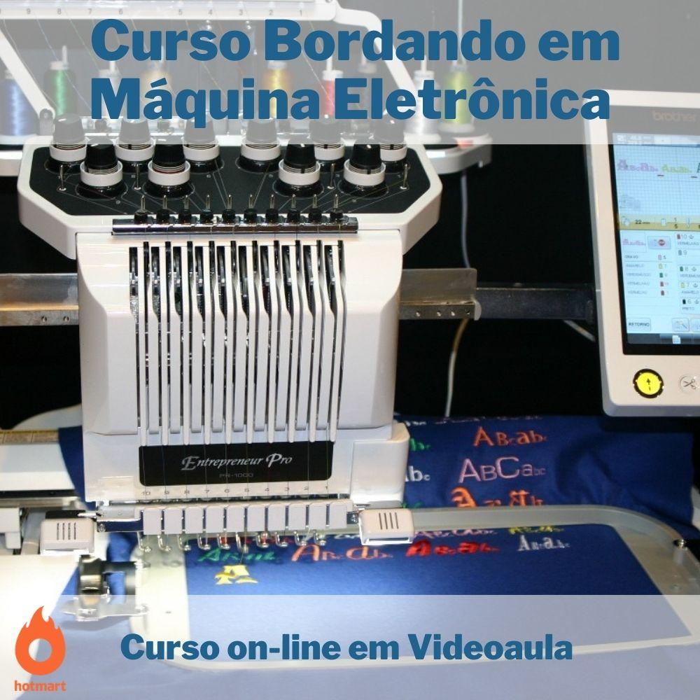 Curso on-line em videoaula Bordando em Máquina Eletrônica com Certificado  - Aprova Cursos