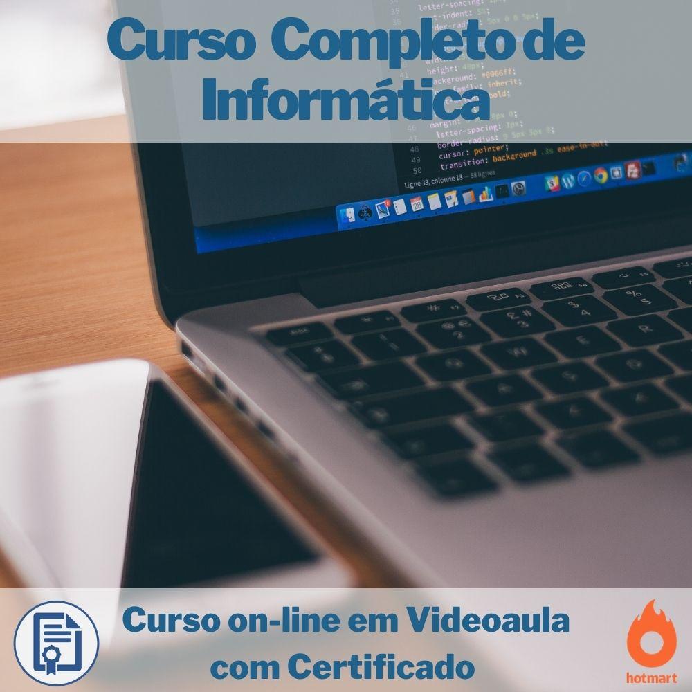 Curso on-line em videoaula Completo de Informática com Certificado