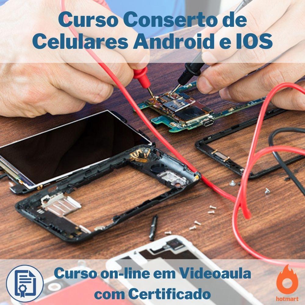 Curso on-line em videoaula Conserto de Celulares Android e IOS com Certificado