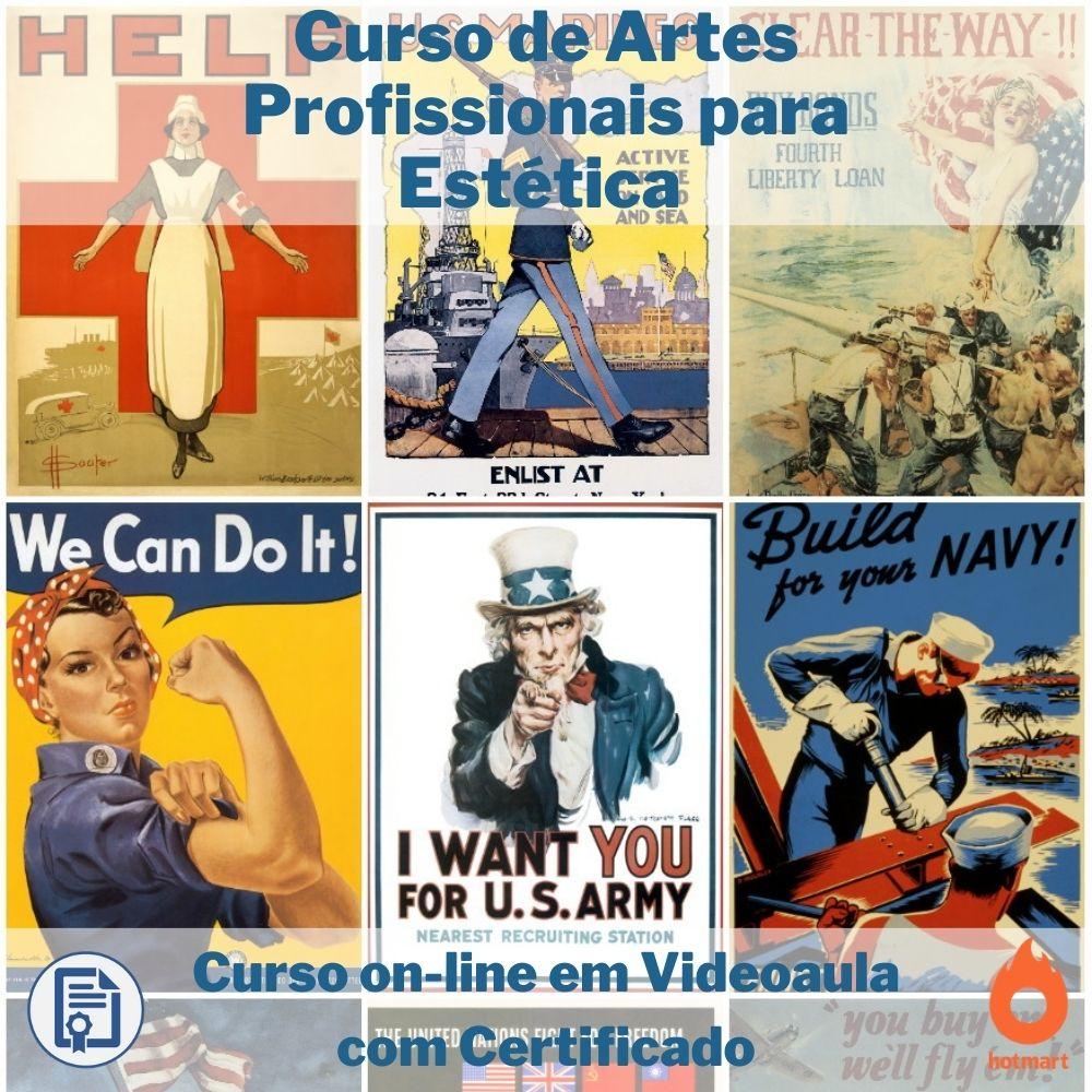 Curso on-line em videoaula de Artes Profissionais para Estética com Certifica