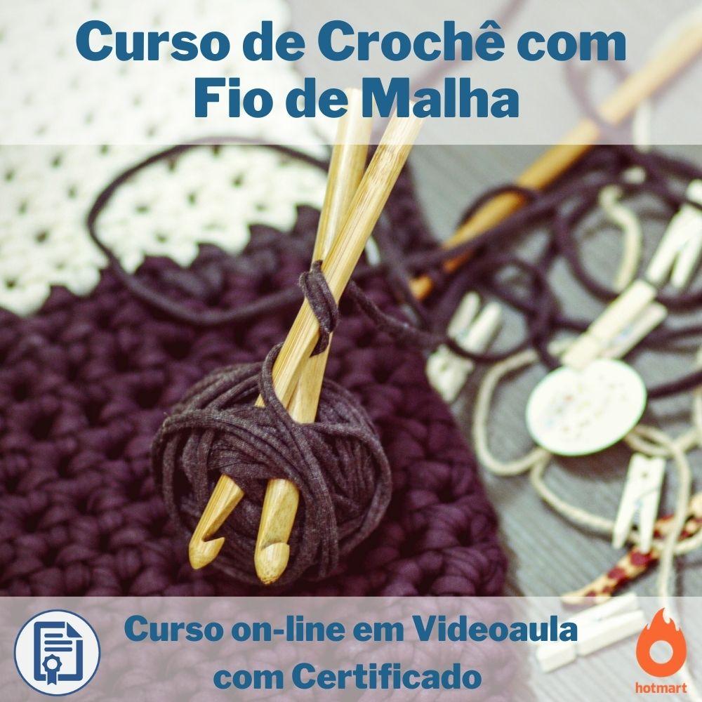Curso on-line em videoaula de Crochê com Fio de Malha com Certificado  - Aprova Cursos