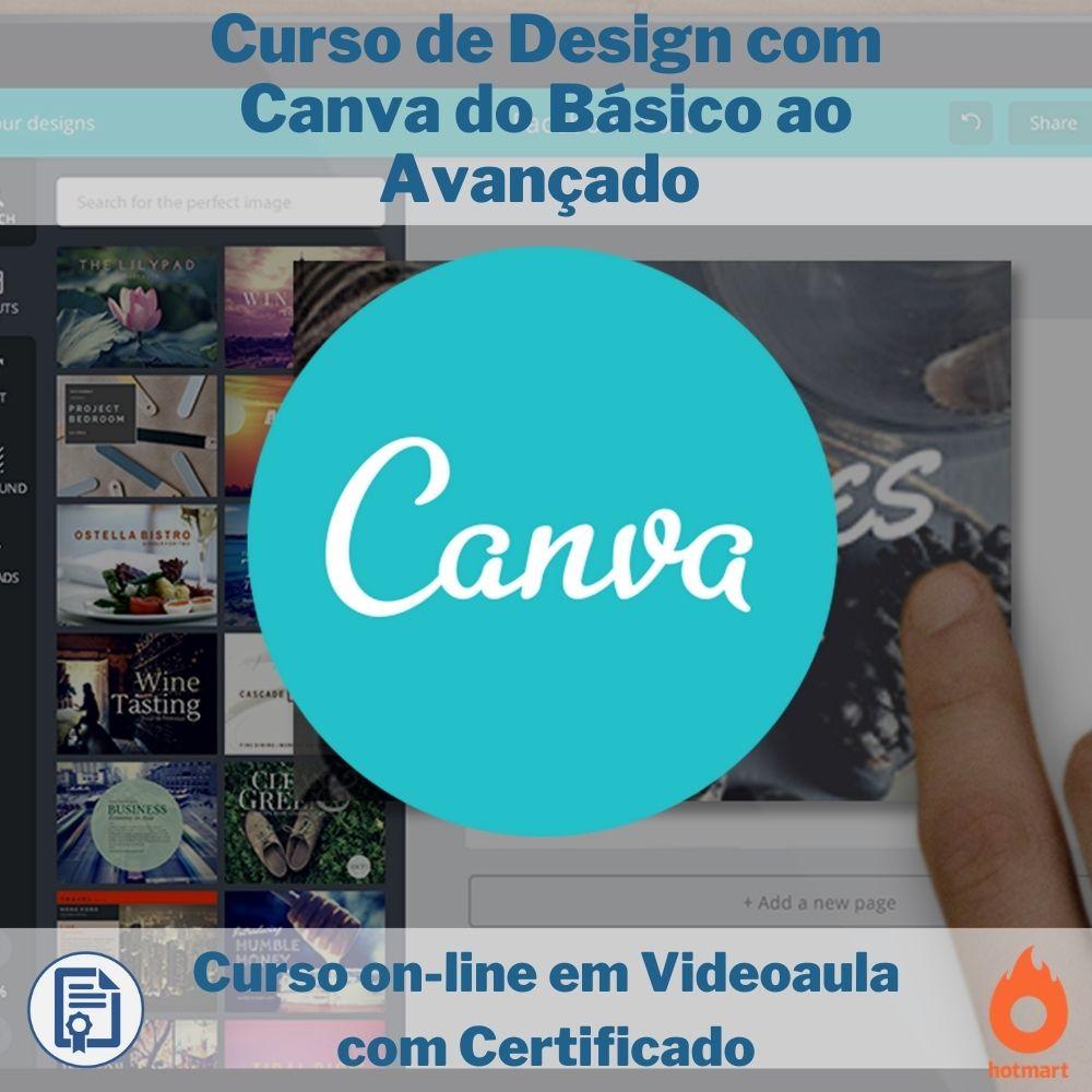 Curso on-line em videoaula de Design com Canva do Básico ao Avançado com Certificado