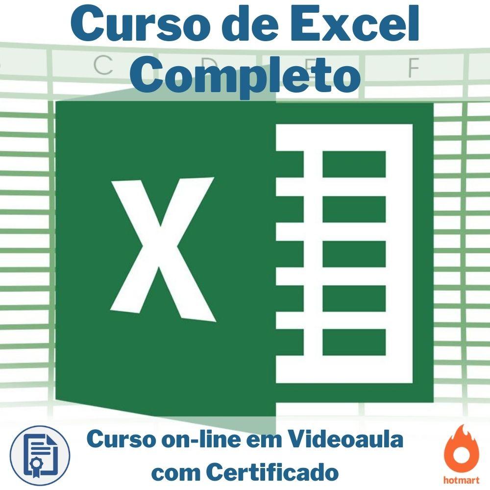 Curso on-line em videoaula de Excel Completo com Certificado