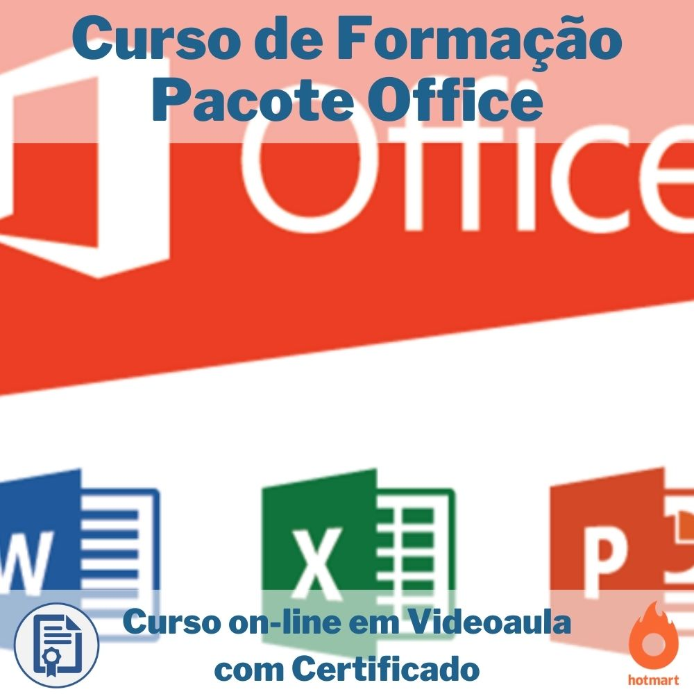 Curso on-line em videoaula de Formação Pacote Office com Certificado