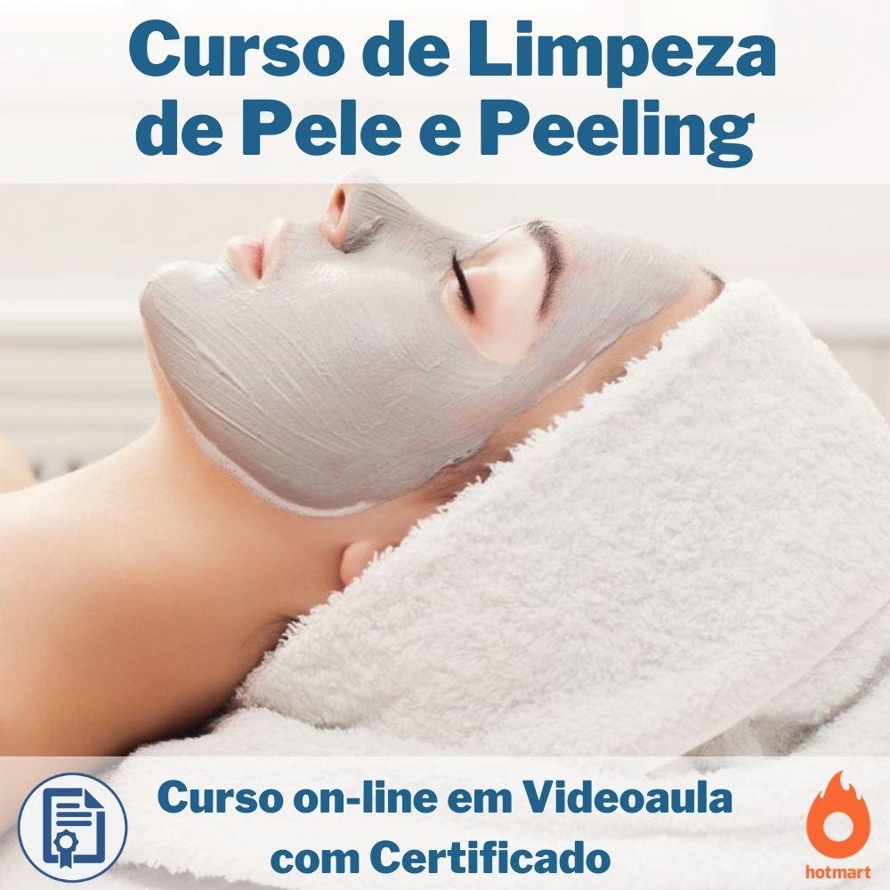 Curso on-line em videoaula de Limpeza de Pele e Peeling com Certificado