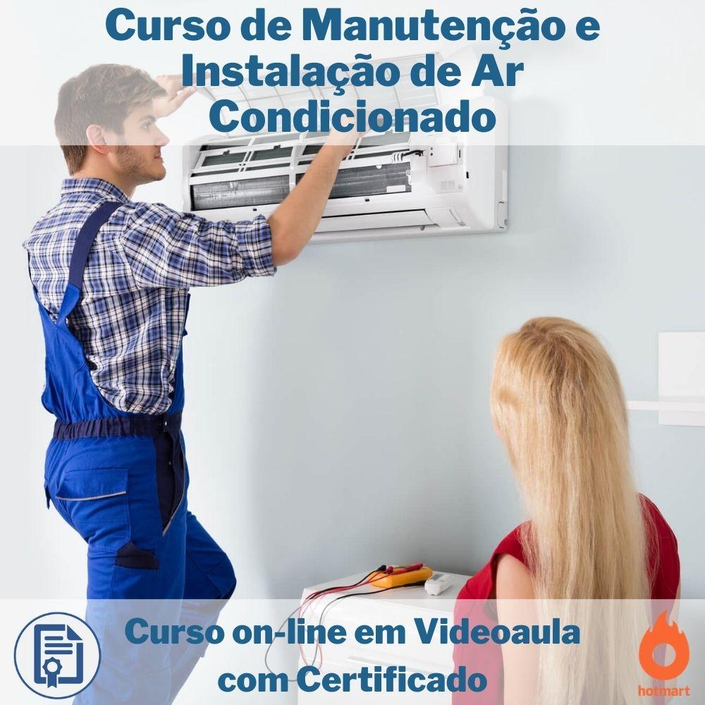 Curso on-line em videoaula de Manutenção e Instalação de Ar Condicionado com Certificado