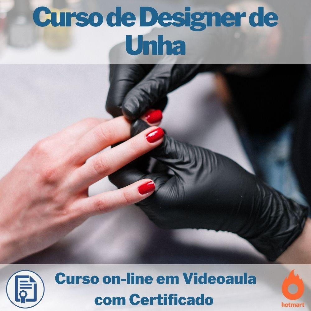 Curso on-line em videoaula Designer de Unha com Certificado
