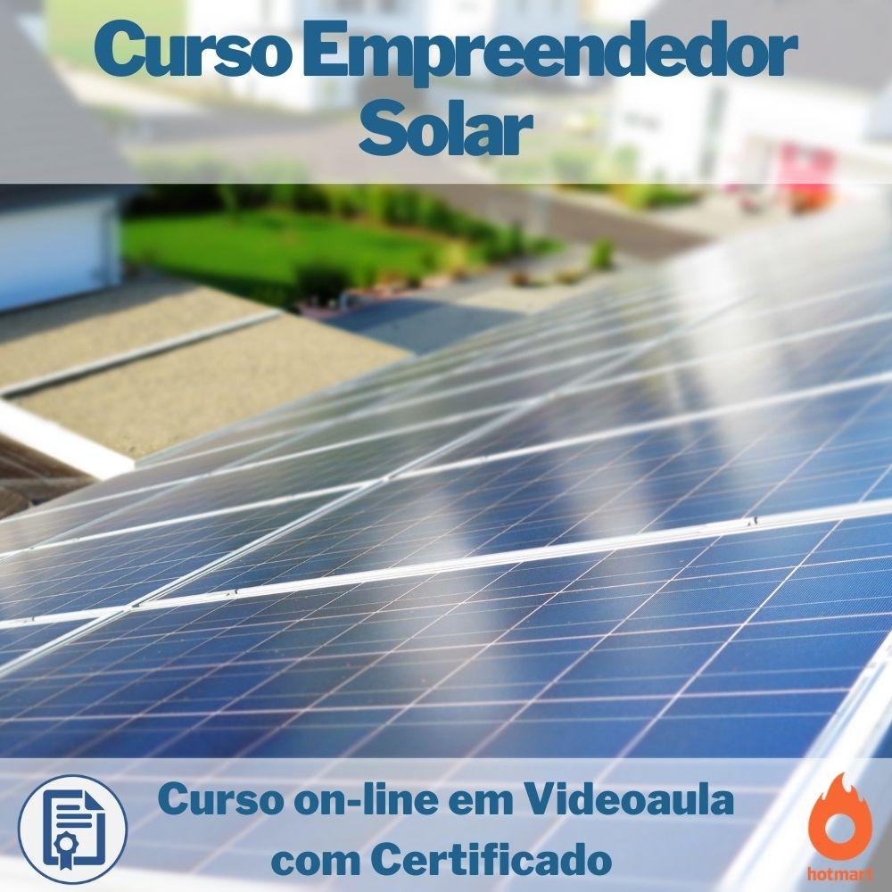 Curso on-line em videoaula Empreendedor Solar com Certificado  - Aprova Cursos