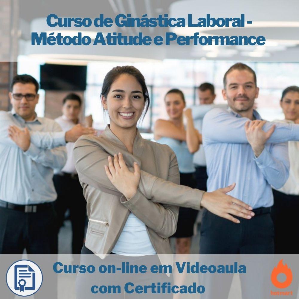 Curso on-line em videoaula Ginástica Laboral - Método Atitude e Performance com Certificado