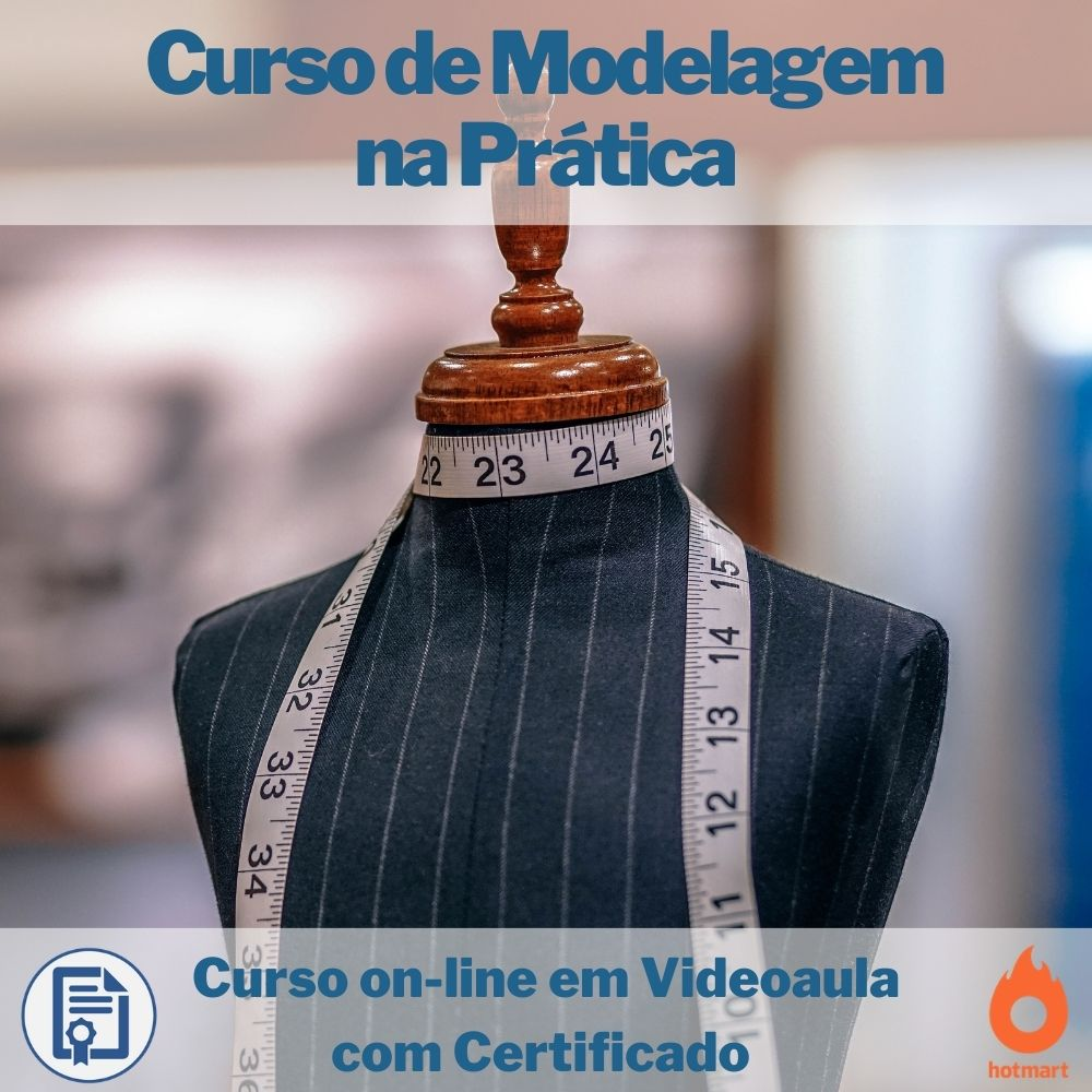 Curso on-line em videoaula Modelagem na Prática com Certificado  - Aprova Cursos