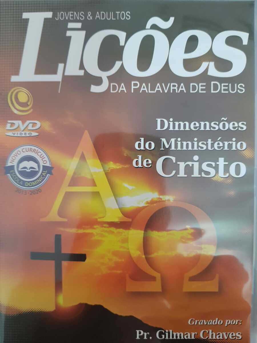 DVD Videoaula Lições da palavra de Deus - Dimensões do Ministério de Cristo  - Aprova Cursos