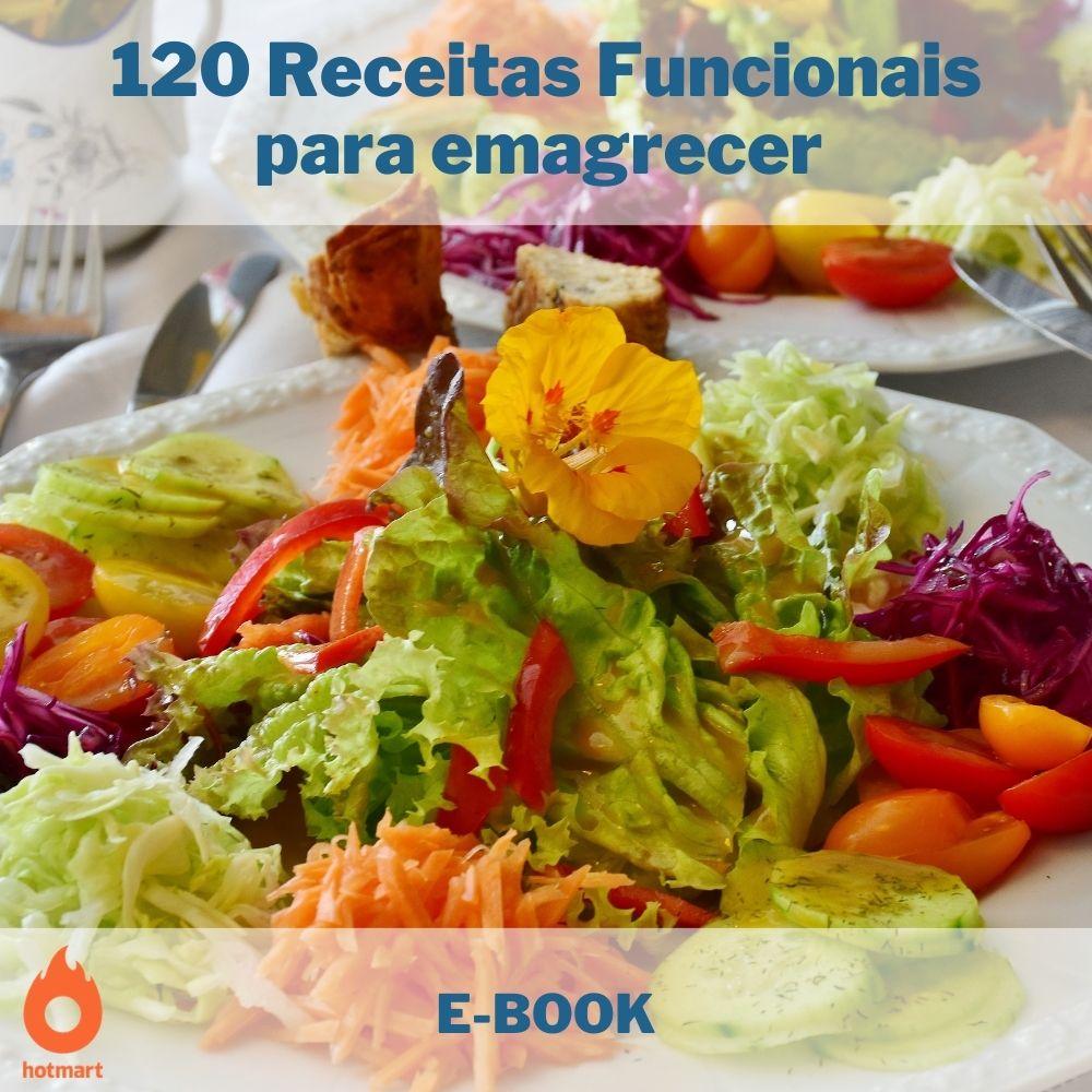 E-book com 120 Receitas Funcionais para emagrecer   - Aprova Cursos