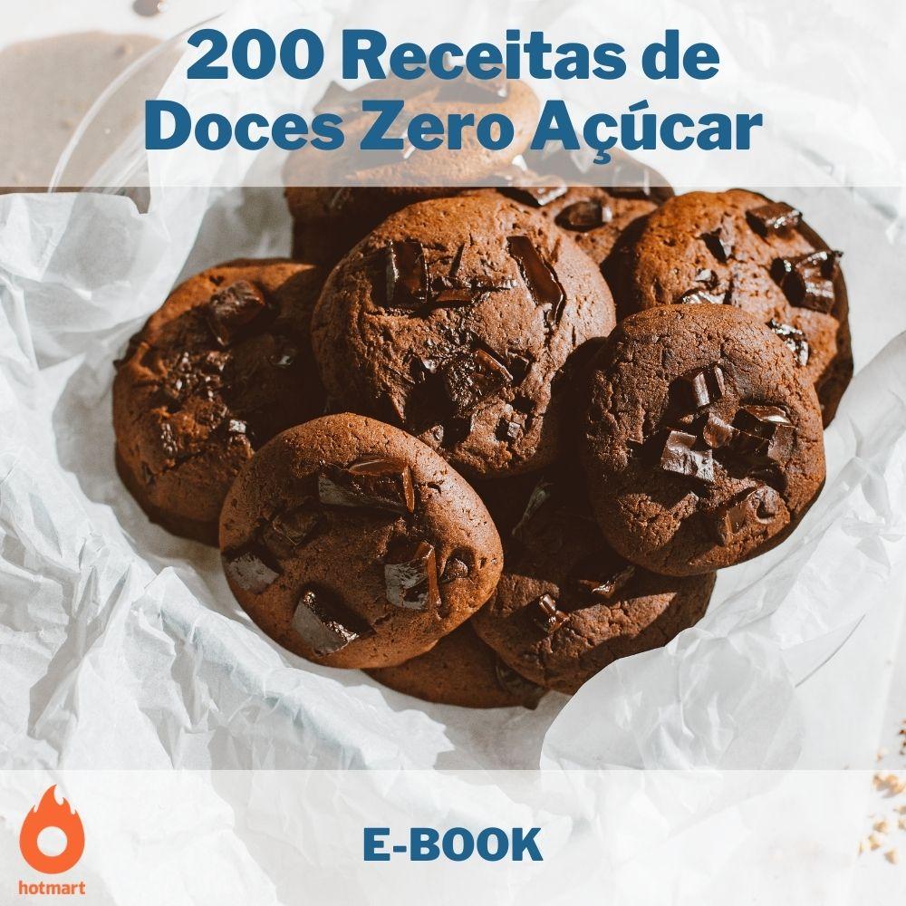 E-book com 200 Receitas de Doces Zero Açúcar