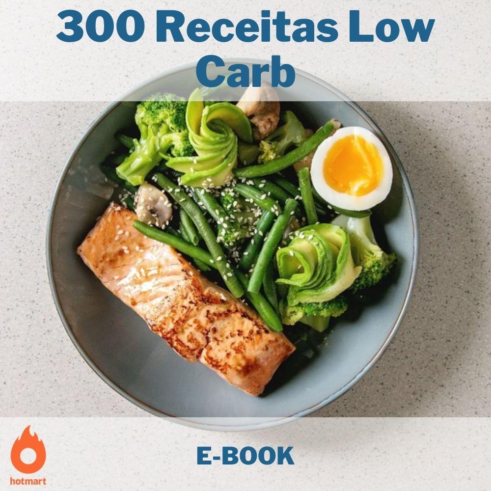 E-book com 300 Receitas Low Carb