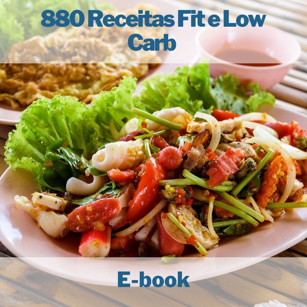 E-book com 880 Receitas Fit e Low Carb