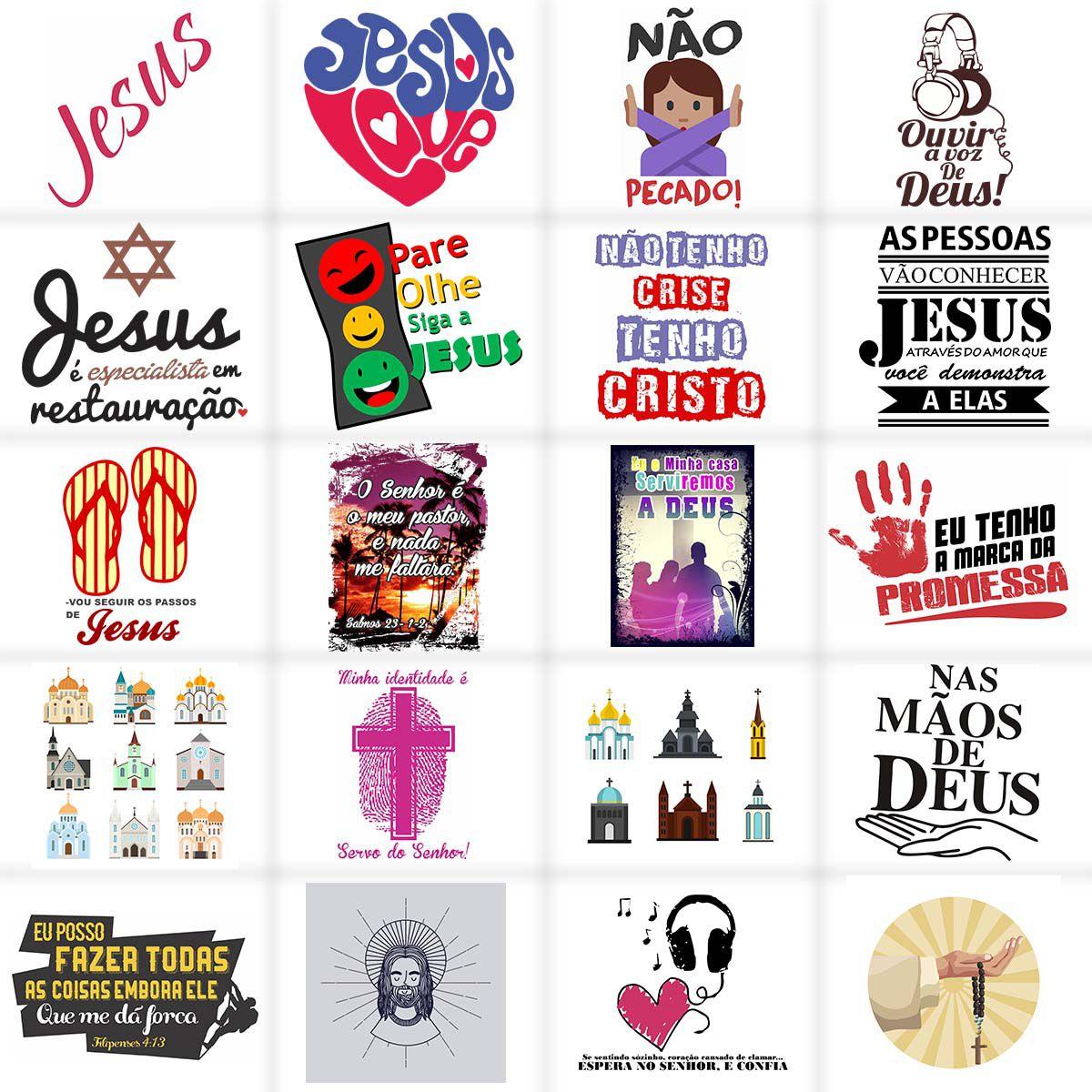 Estampas Gospel Evangélica Cristã Camisetas   - Aprova Cursos