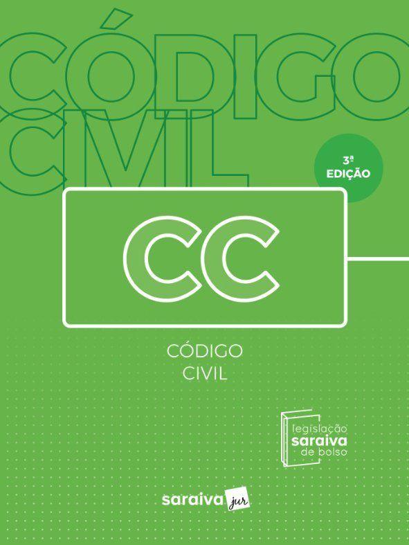 Livro Código Civil - Legislação Saraiva De Bolso - 3ª Ed. 2019