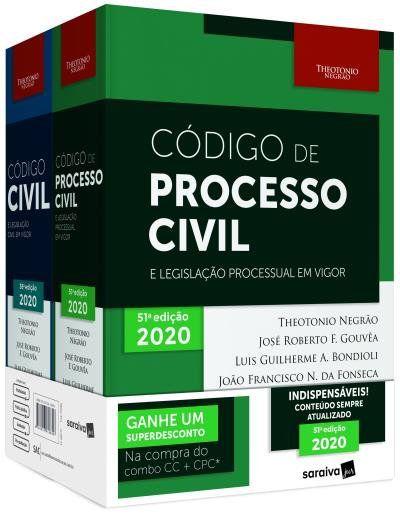 Livro Combo - Código Civil + Código De Processo Civil + Cinta - 12ª Edição 2020
