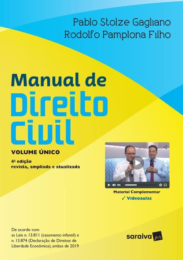 Livro Manual De Direito Civil - Volume Único