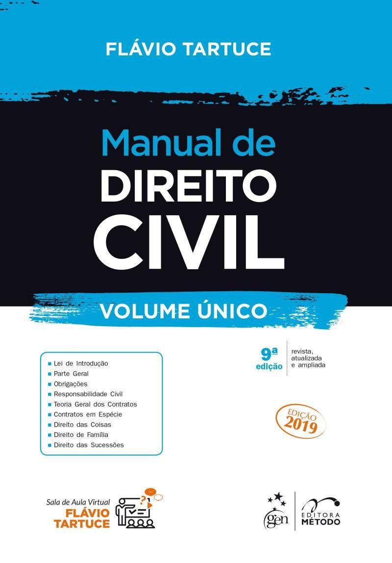 Livro Manual De Direito Civil - Volume Único - 9ª Edição