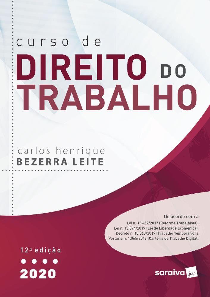 Livros Curso De Direito do Trabalho - 12ª Ed. 2020  - Aprova Cursos