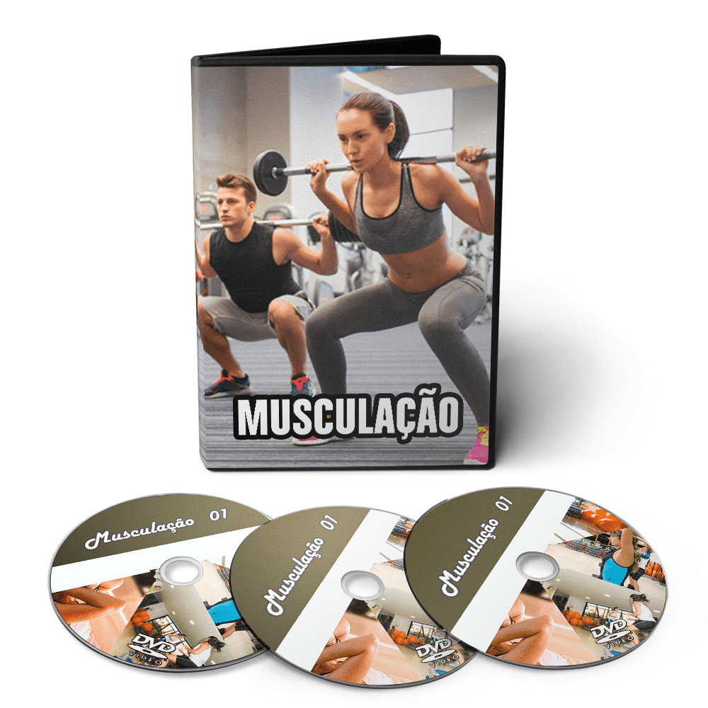 Musculação - Técnicas Exercícios Aparelhos em 03 DVDs Videoaula