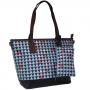 Bolsa Feminina Luxo com Carteira Estampa Mosaico