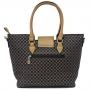 Bolsa Feminina Luxo Estampada com Detalhes em Dourado