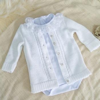 Casaquinho de lã baby Branco