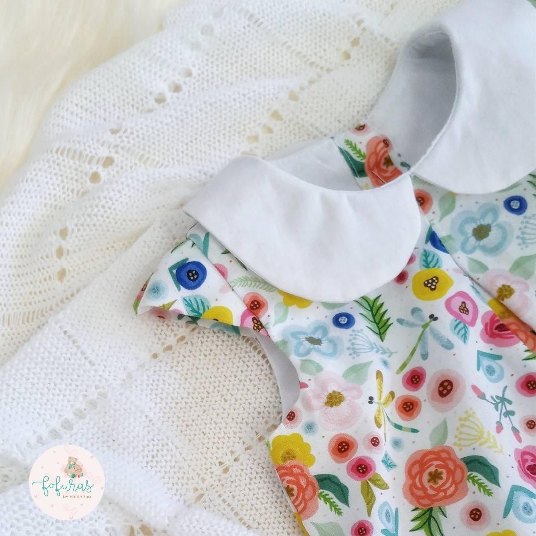 Macaquinho Floral branco