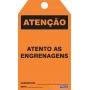 CARTÃO DE TRAVAMENTO - ATENÇÃO ATENTO AS ENGRENAGENS