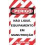 CARTÃO DE TRAVAMENTO DUPLA-FACE
