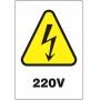Etiquetas Risco de Perigo auto-colante - 220 V