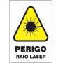 Etiquetas Risco de Perigo auto-colante - Perigo Raio Laser