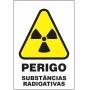 Etiquetas Risco de Perigo auto-colante - Perigo Substâncias Radioativas