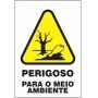 Etiquetas Risco de Perigo auto-colante - Perigoso Para o Meio Ambiente