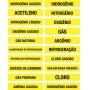 MARCADOR DE TUBULAÇÃO E VÁLVULAS - TAM. 20X4 CM - PCT 05 UNIDADES