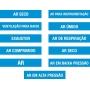 MARCADOR TUBULAÇÃO E VÁLVULAS - TAM. 20X4 CM - PCT 05 UNIDADES