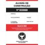 PLACA DE ALVARÁ - OBRAS E REFORMAS - TAM. 50x100 cm