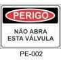 Placa de Perigo - P002